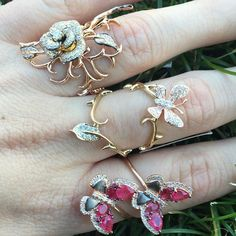 Nature never goes out of style. SHOP NOW at www.jenkdesignsny.com #rings #butterfly #flower #vine #foliage #fall #thanksgiving #brisk #love #holiday #jenk