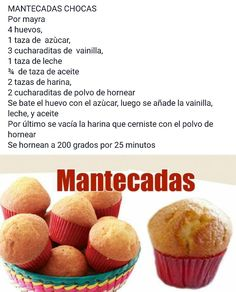 Mantecadas is part of pizza - pizza Sweet Desserts, No Bake Desserts, Sweet Recipes, Delicious Desserts, Dessert Recipes, Cake Recipes, Yummy Food, Mexican Pastries, Mexican Sweet Breads