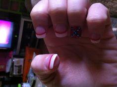 Rebel flag nails!!