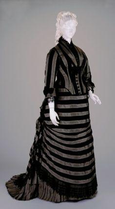 Reception dress, 1877  From the Cincinnati Art Museum
