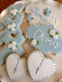 64 Trendy ideas baby boy baptism cookies first communion Baptism Food, Baptism Desserts, Baptism Cupcakes, Baby Boy Baptism, Baptism Ideas, Decoration Communion, Baptism Party Decorations, Comunion Cakes, Christening Cookies