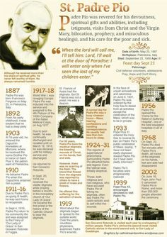 Happy Memorial of St Padre Pio/Pius of Pietrelcina – September 23 Catholic Quotes, Catholic Prayers, Catholic Saints, Patron Saints, Roman Catholic, Catholic Theology, Catholic Answers, Religious Quotes, Sainte Therese De Lisieux