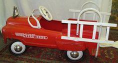 Old Vintage 1955 Original Murray Jet Flow Fire Dept Truck Pedal Car Child Toy | eBay