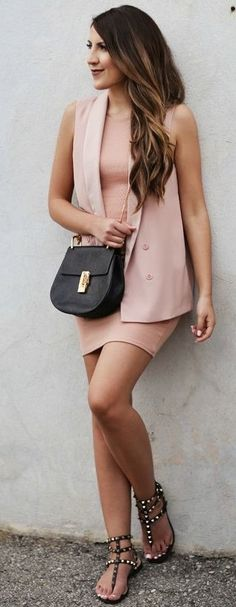Dusty Pink Dress and Vest                                                                             Source