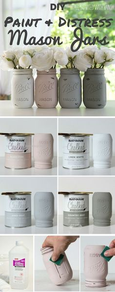 Check out the tutorial: #DIY Paint and Distress Mason Jars – Perfect for an easy… Check out the tutorial: #DIY Paint and Distress Mason Jars – Perfect for an easy dinner party table centerpiece http://www.coolhomedecordesigns.us/2017/11/24/check-out-the-tutorial-diy-paint-and-distress-mason-jars-perfect-for-an-easy/