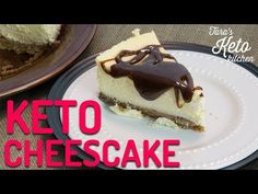"BEST Keto Cheesecake Recipe: Creamy & Delicious Low Carb Cheesecake Gourmet Cheesecake) Keto Cheesecake that delivers a taste and texture that's ""Just Like The Real Thing"". This Gourmet Low Carb Cheesecake was one of the most requested ke. Desserts Keto, Keto Friendly Desserts, Keto Recipes, Dessert Recipes, Dessert Ideas, Best Keto Cheesecake Recipe, Low Carb Cheesecake, Superfood, Gourmet"