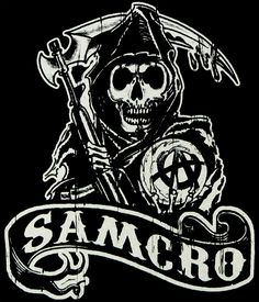 Camiseta chica Sons of Anarchy. Samcro. Modelo 2