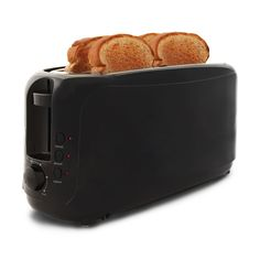 Start your day off right by treating yourself to a great breakfast made with this unique 4-slice Long Slot Cool Touch Toaster, which accommodates up to four slices of bread and specialty breads that c