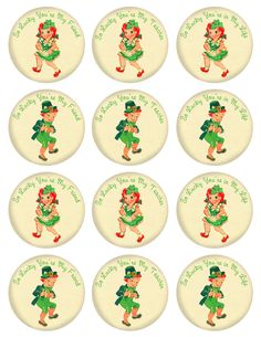 Free vintage St. Patrick's Day printables