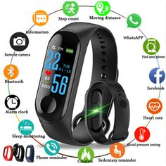 2018 Sports Band Blood Pressure Tracker Heart Rate Monitor Fitness Tracker Smart Wristband Bluetooth Smart Bracelet Pk Mi Band 3 Extremely Efficient In Preserving Heat Smart Electronics
