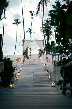 A romantic destination beach wedding in the Dominican Republic sounds pretty perfect.  #BeachWedding #DestinationWedding