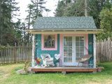 cute painted sheds   Garden Shed with Porch, We just finished building this cute but ...