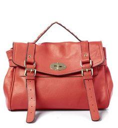 Coral Buckled Handbag ❥