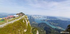 #Panoramic #View From Top Of #Schafbergspitze 1.783m To #Lake #Mondsee @Salzkammegut @iSalzkammergut #Salzkammergut #travel #austria #mountains #hiking #nature #landscape #panorama #cottage #summer #season #outdoor #stock #photo #portfolio #download #hires #royaltyfree