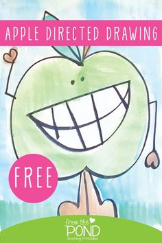 Apple directed drawing steps - perfect art project for back to school in first grade. Kindergarten Art Projects, Classroom Art Projects, Art Classroom, Apple Art Projects, Fall Art Projects, Fall Preschool, Preschool Apples, 1st Grade Crafts, Drawing Apple