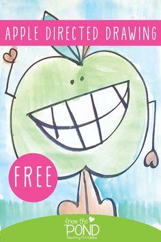 Kindergarten Art Projects, Classroom Art Projects, Art Classroom, Kindergarten Apples, Preschool Apples, Free Preschool, Apple Art Projects, Fall Art Projects, 1st Grade Crafts