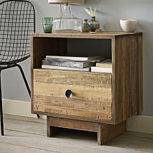 Emmerson Nightstand 1 Drawer, Chestnut | Nightstands and Wood nightstand