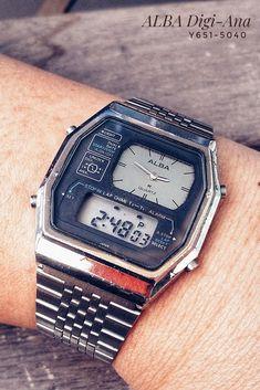 Alba Y651-5040 Retro Watches, Vintage Watches, Retro Appliances, Nerd Chic, Retro Futurism, Square Watch, Sport Watches, 70s Fashion, Digital Watch