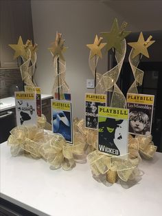 Broadway party Playbill centerpieces