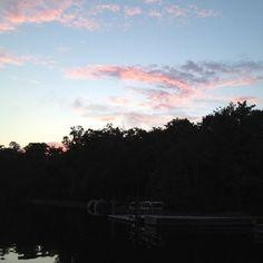 Sunset at Clark's Fish Camp