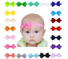 "Bow+size+measures+approx.+2.8""+x+1.5"".++Made+with+grosgrain+ribbon+for+newborn+infants,toddlers+and+baby+girls.++You+are+getting+all+20+colors+in+this+sale."