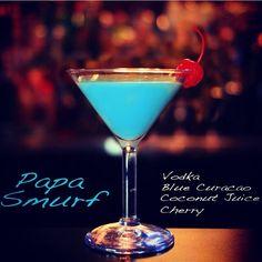 Papa Smurf Martini