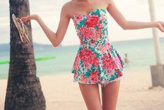 Floral swim suit