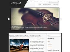 Very unusual, laconic and elegant free WordPress theme for definitely creative personalities - Viola is what can make your life easier and more successful. This music WordPress theme can fit classical music blog needs or musician personal web page alike. Social Bar, Seo Optimization, Themes Free, Responsive Web Design, Premium Wordpress Themes, Classical Music, Make It Yourself, Elegant, Creative
