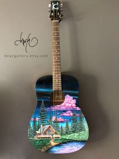 Vintage Guitars are pretty much our specialty. With a little of the most extremely educated classic acoustic guitar gurus within the commercial. R and B Vintage Guitars Acoustic Guitar Art, Ukulele Art, Ukulele Drawing, Guitar Chords, Guitar Case, Cool Guitar, Painted Ukulele, Painted Guitars, Vintage Guitars
