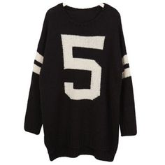 Casual Scoop Neck Letter Jacquard Long Sleeve Sweater For Women ($20) ❤ liked on Polyvore featuring tops, sweaters, jacquard sweater, letter sweater, scoop neck top, black sweater and black long sleeve top