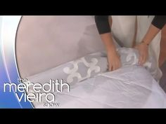 AMAZING way to put on the duvet cover easy no hassle. Something You Should Know: Duvet Cover Roll – The Meredith Vieira Show