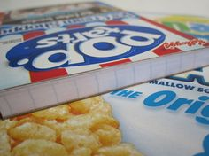 cereal box notepads (or use GS cookie boxes...) EASY! Uses old cereal/cookie boxes, paper, mod podge & binder clips (to help set the mod podge)