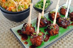 Spicy Korean Style Gochujang Meatballs Recipe On Korean BBQ Meatball Lettuce Wraps Fake Ginger. Saucy Asian Meatballs Gimme Some Oven. Best Gallery Images for Your Reference and Informations Gochujang Recipe, Tapas, Cooking Tips, Cooking Recipes, Asian Recipes, Ethnic Recipes, Asian Foods, Healthy Recipes, Spicy Recipes