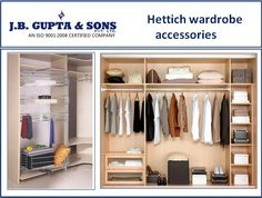 Get the attractive and quality Hettich wardrobe accessories at very low price. To watch our latest collection visit to our website :- http://www.jbghardware.com/kitchen-wardrobe-accessories/wardrobe-accessories/
