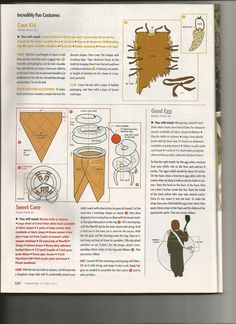 Directions for the Ice Cream Cone and Egg Costumes from Family Fun Magazine  October 2007 issue
