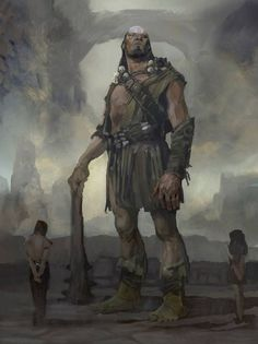 Ogre-like people walking out. down a hallway. Planting a new garden and making a firepit. Fantasy Races, High Fantasy, Fantasy Rpg, Medieval Fantasy, Fantasy Artwork, Fantasy Creatures, Mythical Creatures, Dark Sun, Jack The Giant Slayer