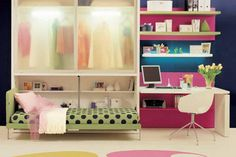 Teen Bedroom Design Ideas for Small Spaces by Clei