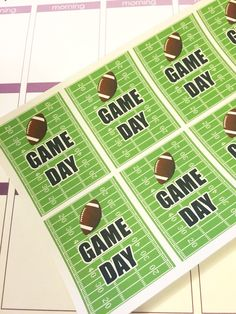 Game Day Football Decorative Planner Stickers for Erin Condren by PawsPaper on Etsy https://www.etsy.com/listing/243207297/game-day-football-decorative-planner