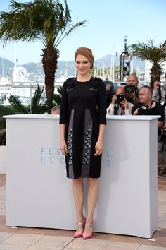 """Lea Seydoux in Prada at a photocall for """"The Lobster"""" during the 68th annual Cannes Film Festival. Photo: Ben A. Pruchnie/Getty Images"""