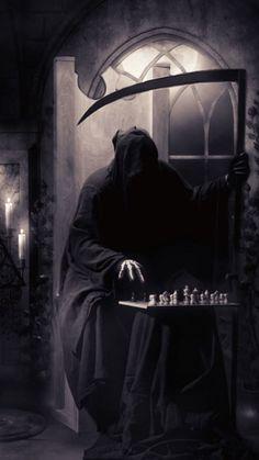 the grim reaper Death Reaper, Grim Reaper Art, Don't Fear The Reaper, Dark Gothic, Gothic Art, Gothic Horror, Dark Fantasy Art, Dark Art, Reaper Tattoo