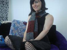 My unisex bobbled scarf