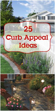25 Curb Appeal Ideas -- Make your home exterior beautiful! 25 Curb Appeal Ideas -- Make your home exterior beautiful! Outdoor Spaces, Outdoor Living, Lawn And Garden, Home And Garden, Front Yard Landscaping, Ranch Landscaping Ideas, Hillside Landscaping, Outdoor Projects, Diy Projects
