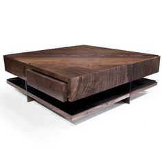 Grid Coffee Table with Drawers