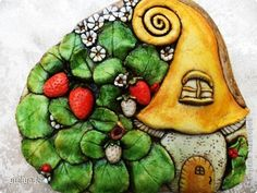 Поделка изделие Лепка лесные домики Тесто соленое фото 5