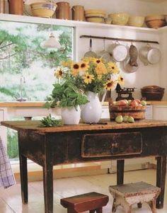 Great Primitive Kitchen island