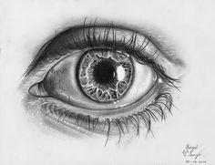 Desenhando com Lápis: Desenhando Olho- Eye lineart (proporções realisticas) Tutorial. Pt1