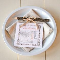 Thanksgiving Word Search Place Cards - My So Called Crafty Life
