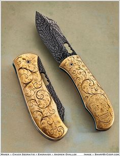Knifemaker Charles Gedraitis - Day of the Dead Celebration (Mexican holiday).  Engraver Andrew Ovalles