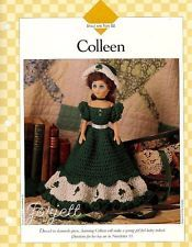"""Colleen, 15"""" fashion doll clothing crochet patterns instructions"""