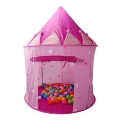 Amazon.com: Girl's Playhouse Pink Princess Castle Play Tent for Kids - Indoor / Outdoor - Pockos: Toys & Games